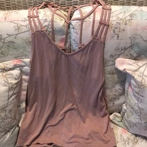X-small, rose colored tank top
